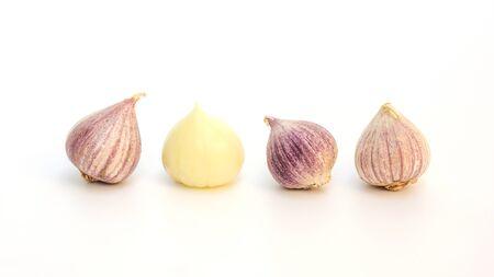 Elephant Garlic (Allium Sativum Linn.) on a white background.