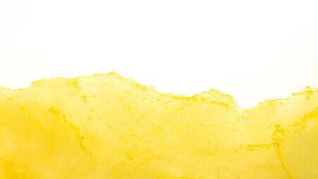 Yellow cotton candy on a white background.