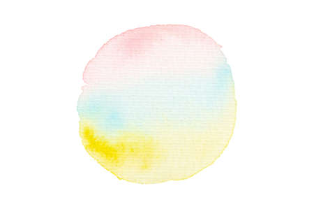 Pink, blue, and yellow watercolor for an abstract background.