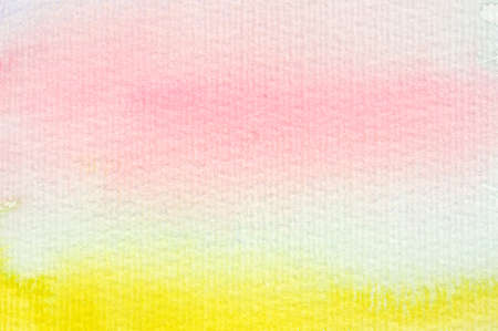 Pink and yellow watercolor for an abstract background.