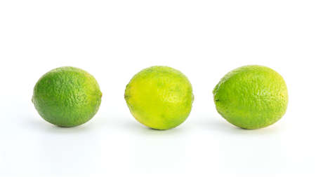Green lime on a white background.