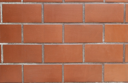 stone wall: Red brick wall background - texture  Stock Photo