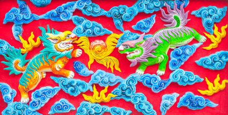 muralla china: drag�n fondo de la pared chino