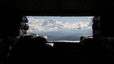 空への方法 写真素材