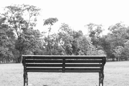 Bench in black and white 写真素材