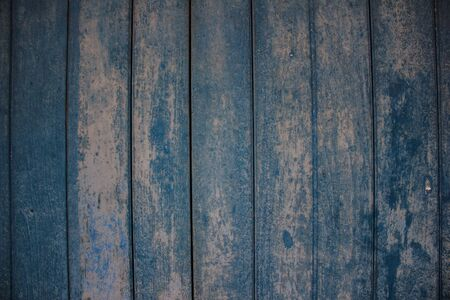 blue-woodedf wall at a old town Stock Photo