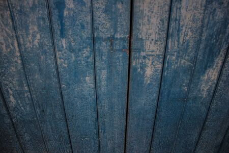 look down to the blue-wooded wall Stock Photo