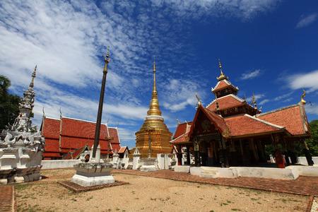tourist spot: Wat Pong Sanuk, an ancient temple and tourist spot located at Lampang Thailand.
