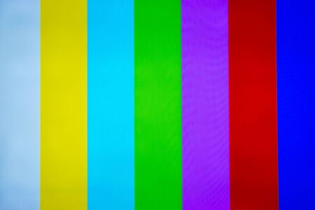 television set: Television pattern of stripes. Stock Photo