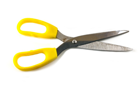 household objects equipment: scissors isolated on white background