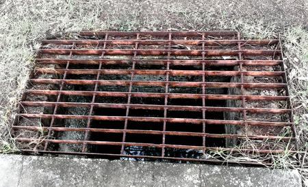 Old Rusty Steel Grating