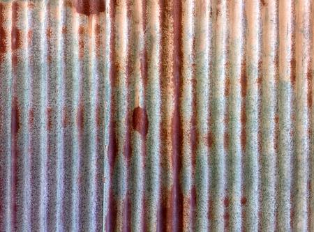 Rusty Corrugated Zinc Plate