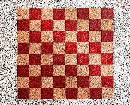 Checkered Board on Table Top Stock Photo