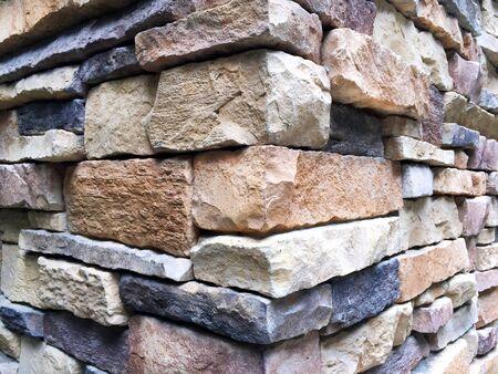 Wall viewed at its Corner made of Assorted Rectangular Bricks Stock fotó - 86689400