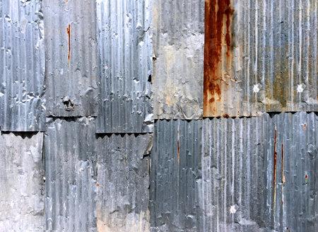 Rusty Corrugated Zinc Plate Wall