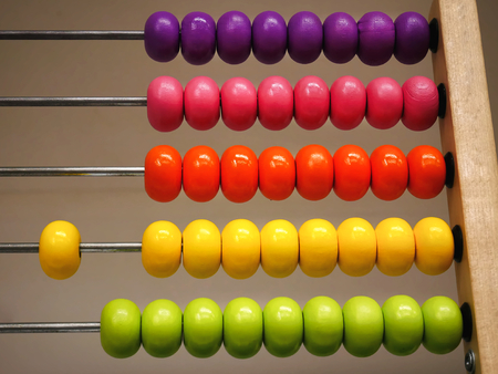 Colorful Wooden Abacus for Basic Mathematics Learning