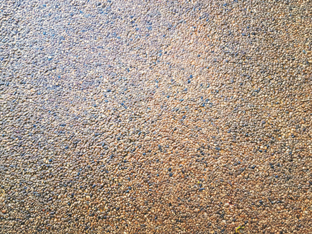 Full Frame Background of Wet Tiny Gravel Stone Floor