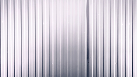 Full Frame Background of White Corrugated Metal Wall