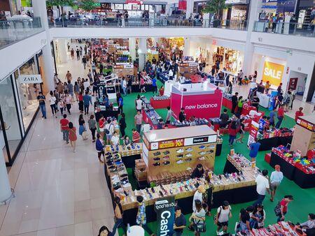 Bangkaew, Samut Prakan  Thailand - June 10, 2019: People Shopping at Sport Store at Mega Bangna Department Store 에디토리얼
