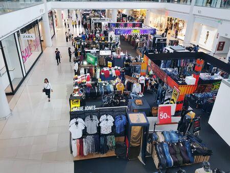 Bangkaew, Samut Prakan  Thailand - July 14,2019: People Shopping Jeans and Other Fashion Clothes at Mega Bangna