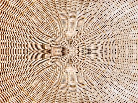 Full Frame Background of Brown Woven Rattan Pattern 스톡 콘텐츠