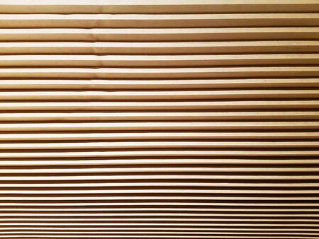 Full Frame Background of Brown Pleated Curtain