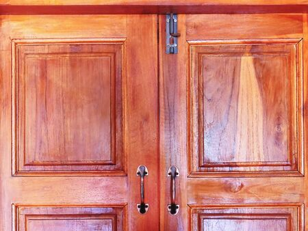 Full Frame Closed Wooden Door with Latch