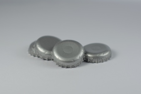 Metallic bottle cap photo