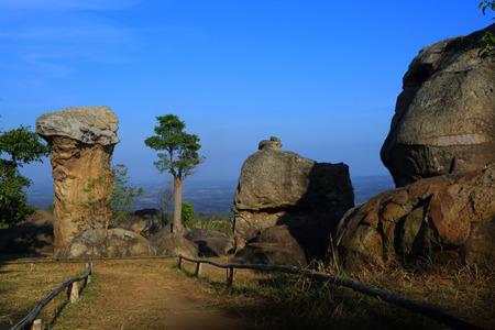 "Stonehenge  Thailand  in  stone  field  ""Mo Hin  Khaw"" of  Chaiyaphum  province, Thailand photo"