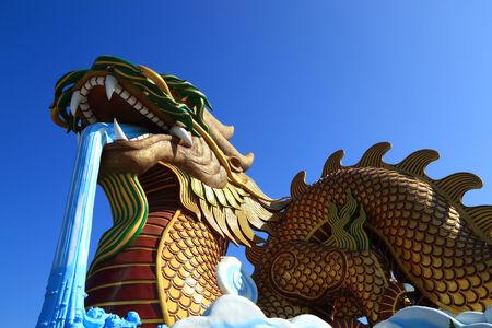 annals: God dragon  in suphanburi province, thailand