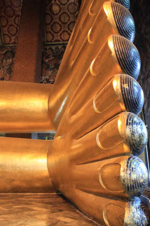 The buddha foot , Foot statue ,Generality in Thailand,any kind of art decorated in buddhist church ,temple pavilion,temple hall,monk shouse etc  created with money donated by people tohire artist  They are public domainor Buddhism,no restrict in copyor us
