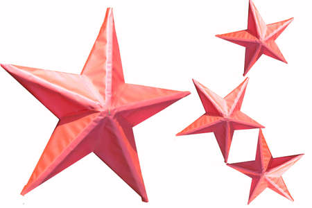 festiveness: Star pink Stock Photo