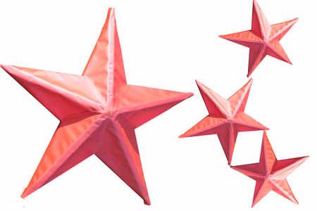 wintriness: Star pink Stock Photo