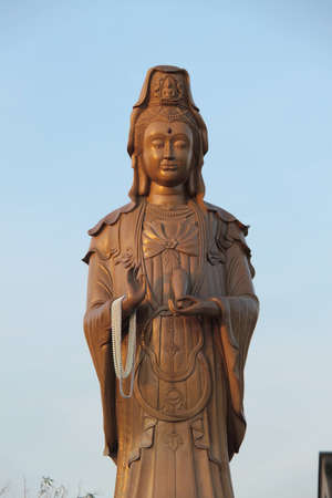 Kuan Yin image of buddha ,  thai temple   photo