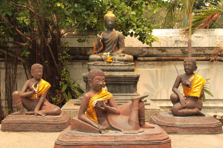 disciples: Buddha and his disciples