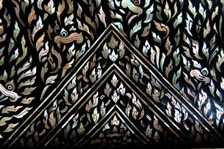 generality: Thai art wall pattern , Generality in Thailand,any kind of art decorated in buddhist church ,temple pavilion,temple hall,monk