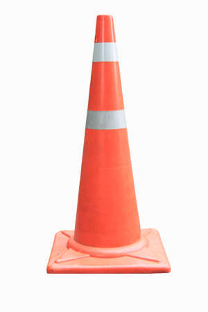 traffic cone isolated over white photo