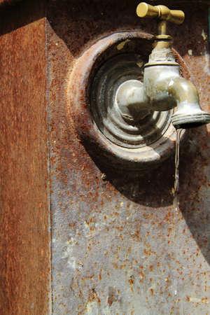 watertap: Antique faucet  Stock Photo
