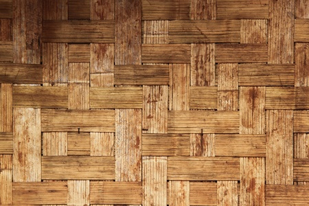 wickerwork: Native Thai style bamboo wall, natural wickerwork
