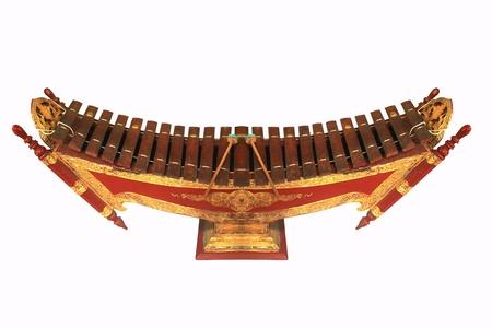 resonator: Thailand Xylophone that it called  Ranat ek� Thai xylophone. Stock Photo