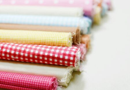 fabric rolls Stock Photo
