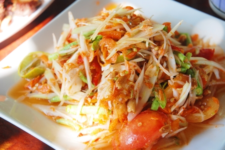 Simple food ,rice and curry of thai food  , Thai style