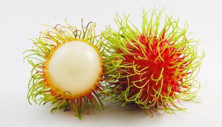 vertica: Rambutan isolated on white