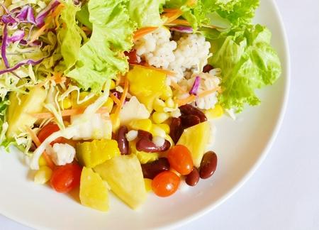closeup of salad  photo