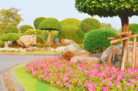 Garden in Suan Luang Rama 9 public park, Thailand photo