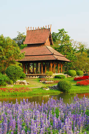 Garden in  public park in  Thailand photo