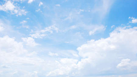 Landscape blue sky and cloud, natural background photo
