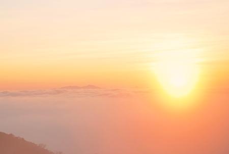 sunup: Sunset landscape of mountain