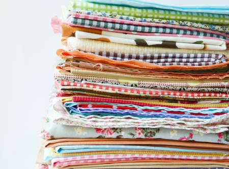 weft: Colorful fabric Stock Photo
