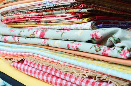 weft: fabric background Stock Photo